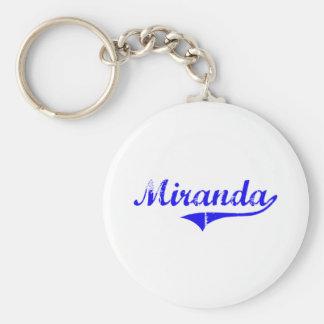 Estilo de la obra clásica del apellido de Miranda Llavero Redondo Tipo Pin