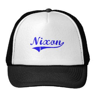 Estilo de la obra clásica del apellido de Nixon Gorra
