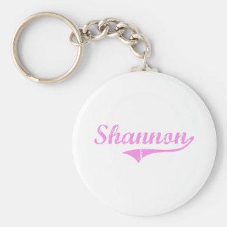 Estilo de la obra clásica del apellido de Shannon Llavero Redondo Tipo Pin