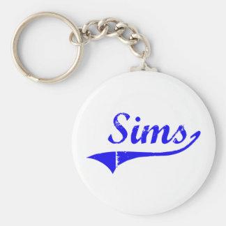 Estilo de la obra clásica del apellido de Sims Llavero Redondo Tipo Pin