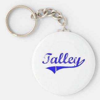 Estilo de la obra clásica del apellido de Talley Llavero Redondo Tipo Pin