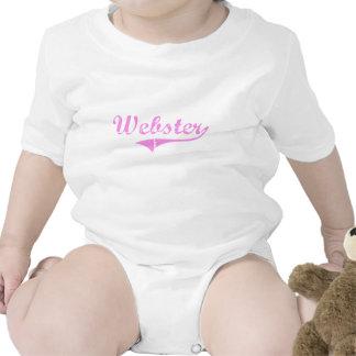 Estilo de la obra clásica del apellido de Webster Camiseta