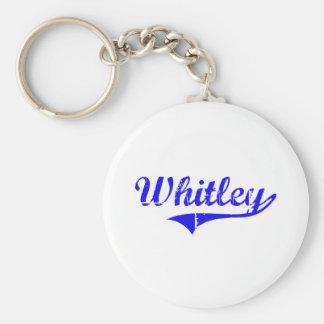 Estilo de la obra clásica del apellido de Whitley Llavero Redondo Tipo Pin