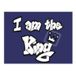 """Estilo de la pintada """"soy el rey"""" con la corona postal"""