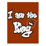 """Estilo de la pintada """"soy el rey"""" con la corona tarjetas postales"""