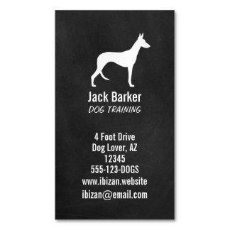 Estilo de la pizarra de la silueta del perro de tarjetas de visita magnéticas (paquete de 25)