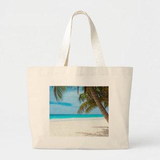 Estilo de la playa bolsa lienzo