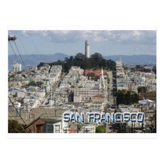Estilo de la postal de San Francisco
