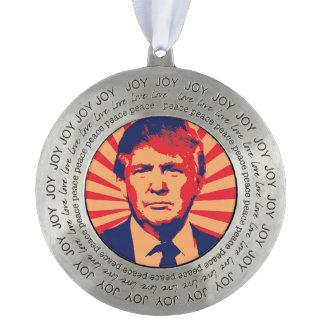 Estilo de la propaganda de Donald Trump Adorno De Navidad Redondo De Peltre