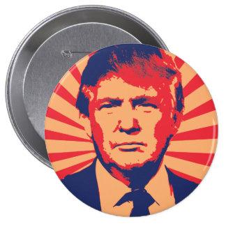 Estilo de la propaganda de Donald Trump Pin Redondo De 4 Pulgadas