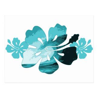 Estilo de la resaca del hibisco tarjetas postales