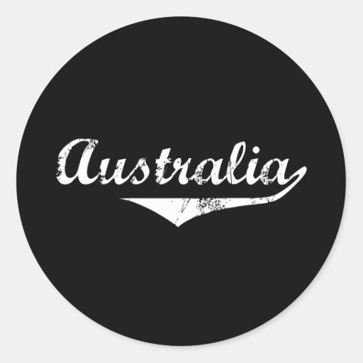 Estilo de la revolución de Australia Etiquetas Redondas