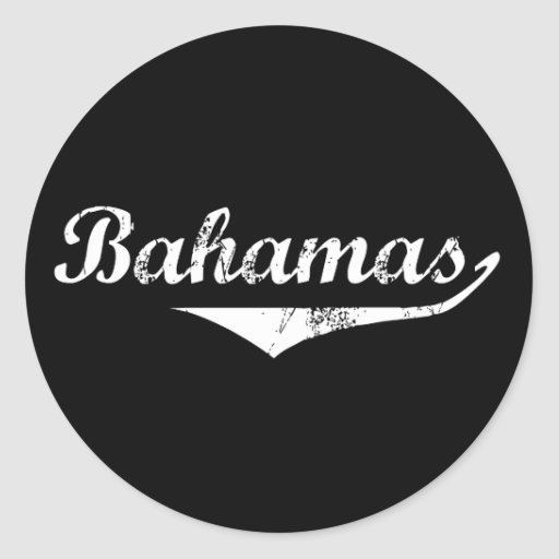 Estilo de la revolución de Bahamas Pegatina Redonda