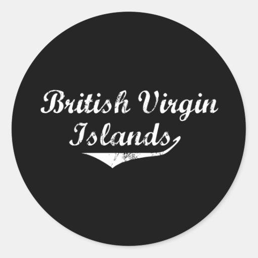 Estilo de la revolución de British Virgin Islands Pegatinas