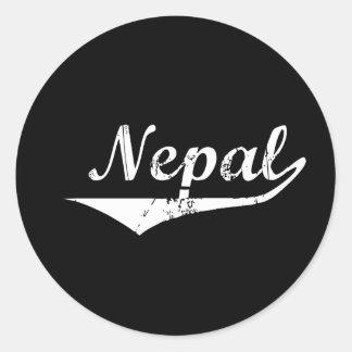 Estilo de la revolución de Nepal Pegatinas Redondas