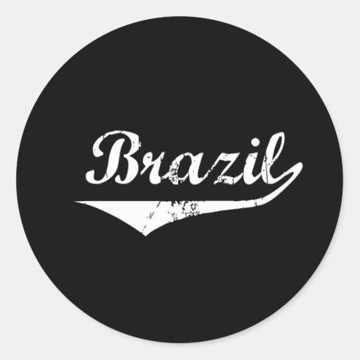 Estilo de la revolución del Brasil Pegatina