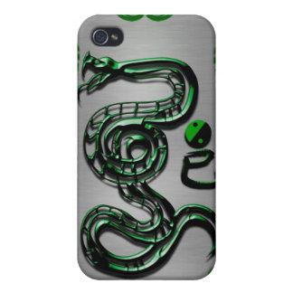 Estilo de la serpiente del jade iPhone 4 protectores