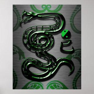 Estilo de la serpiente del jade póster