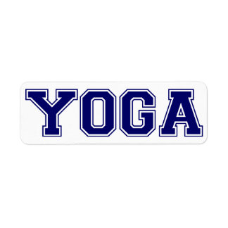 Estilo de la universidad de la yoga etiqueta de remite