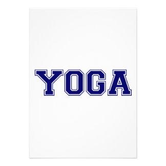 Estilo de la universidad de la yoga comunicado personalizado