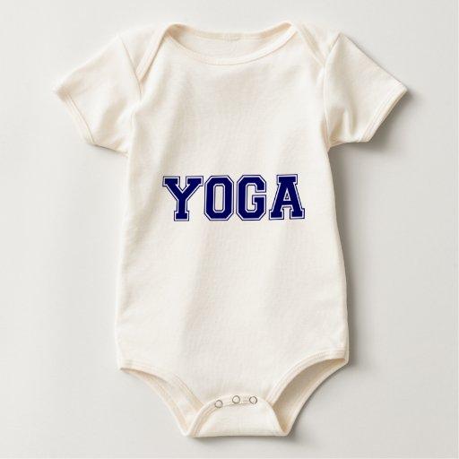 Estilo de la universidad de la yoga traje de bebé