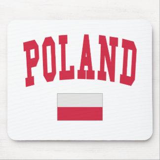 Estilo de la universidad de Polonia Mouse Pads