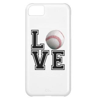 Estilo de la universidad del béisbol del amor funda para iPhone 5C