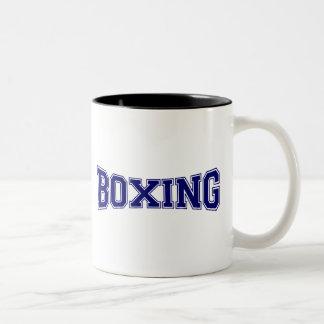 Estilo de la universidad del boxeo taza de dos tonos
