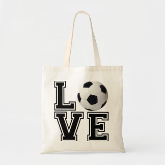 Estilo de la universidad del fútbol del amor bolsa