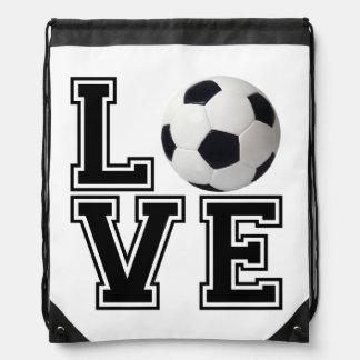 Estilo de la universidad del fútbol del amor mochila