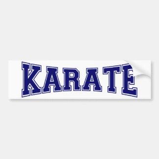 Estilo de la universidad del karate pegatina para auto