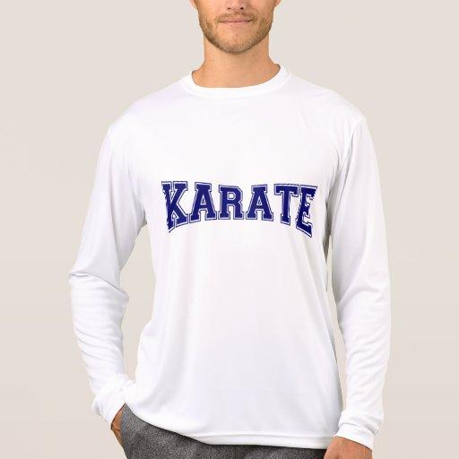 Estilo de la universidad del karate tshirt