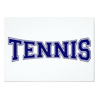 Estilo de la universidad del tenis invitaciones personales