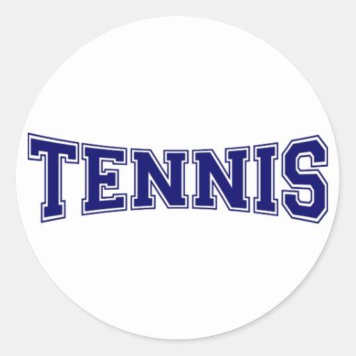 Estilo de la universidad del tenis pegatina redonda