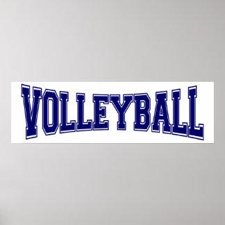 Estilo de la universidad del voleibol póster