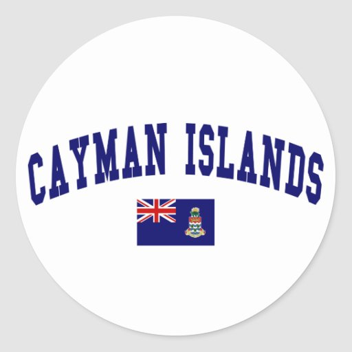 Estilo de las Islas Caimán Pegatinas Redondas