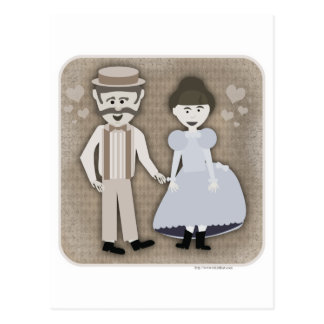 Estilo de los 1890 s del amor postal