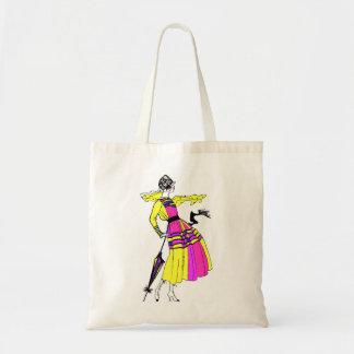 estilo de los años 20 del rugido bolsas lienzo