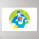 Estilo de los años 80 del superhombre poster