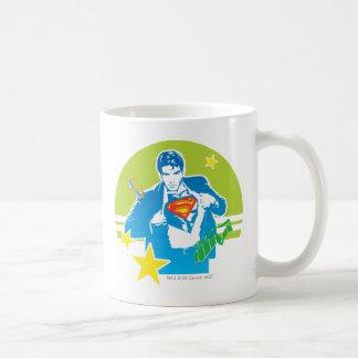 Estilo de los años 80 del superhombre taza