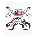 Estilo de los E.E.U.U. del pirata de la roca Flyer Personalizado