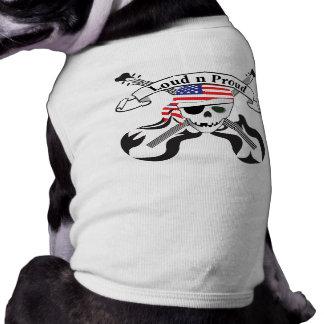 Estilo de los E.E.U.U. del pirata de la roca Camiseta De Perro