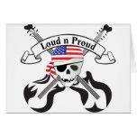 Estilo de los E.E.U.U. del pirata de la roca Felicitaciones