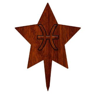 Estilo de madera de caoba rico del grano de la decoración para tarta