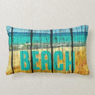 Estilo de madera de la muestra de la playa cojines