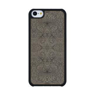 Estilo de madera del indio del iPhone 5C del caso Funda De iPhone 5C Slim Arce