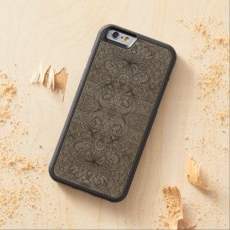 Estilo de madera del indio del iPhone 6 del caso Funda De iPhone 6 Bumper Arce