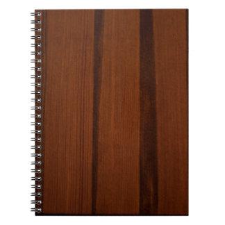 Estilo de madera libro de apuntes
