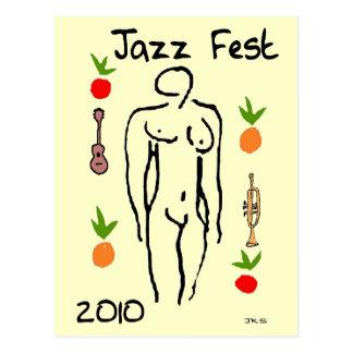 Estilo de Matisse del Fest del jazz Postales