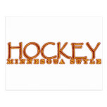 Estilo de Minnesota del hockey Tarjeta Postal